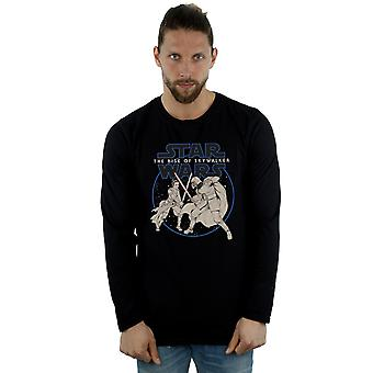 Star Wars The Rise Of Skywalker Rey And Kylo Combat Long Sleeved T-Shirt Men's