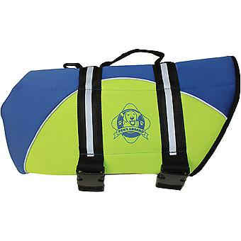 Paws Aboard Neoprene Doggy Life Jacket Extra Small-Blue & Yellow NEOXS-B1200