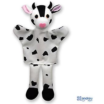 Andreu Toys Marionnettes A Main - Baby Animals - Vache Blanc