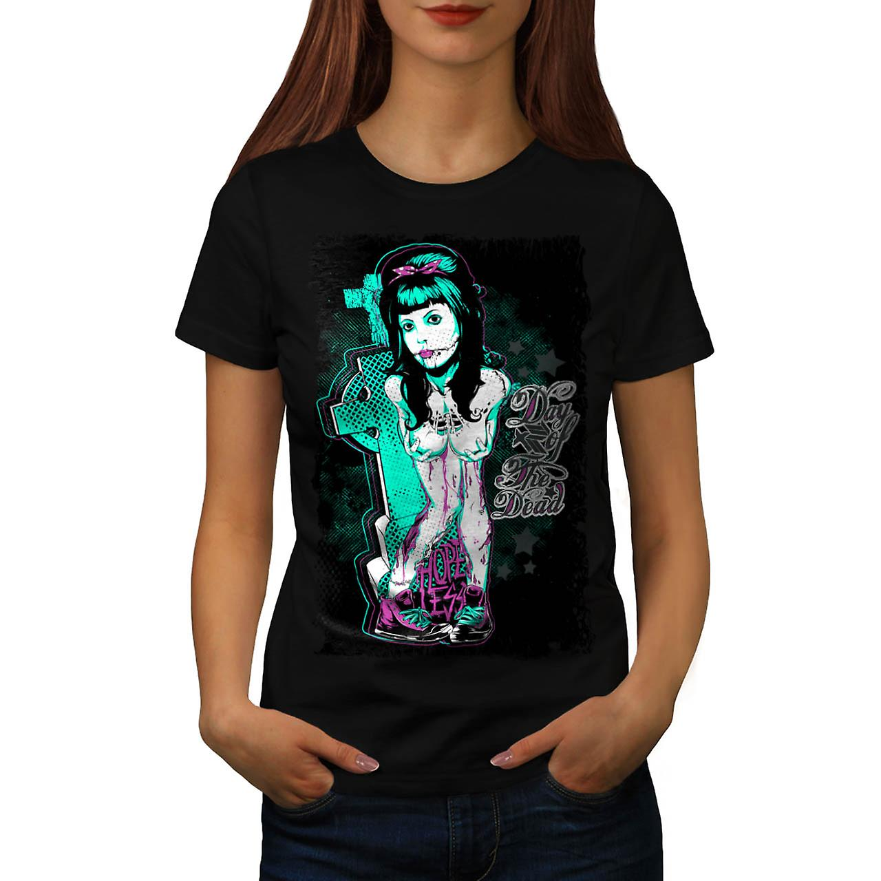 Day of The Dead Girl Hopeless Women Black T-shirt | Wellcoda