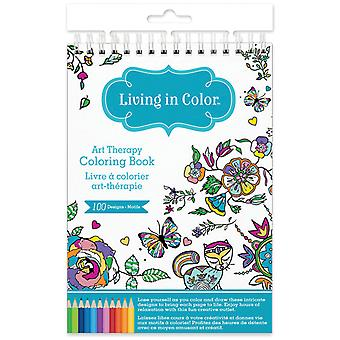 Living In Color Art Therapy Coloring Book -Flora & Fauna LIC600-C