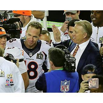 Peyton Manning & John Elway Super Bowl 50 foto afdrukken