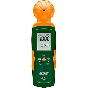 Carbon dioxide detector Extech CO240 0 up to 9999 ppm thermometer, USB interface, Datalogger function