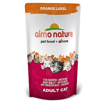 Almo Nature Orange Label Cat Beef 750g (Pack of 5)