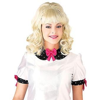 1960s teaser sok Hop Hairspray Retro fedt Bouffant Blonde kvinder kostume paryk