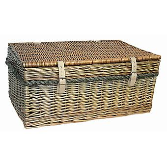 62cm Antique Wash Picnic Basket