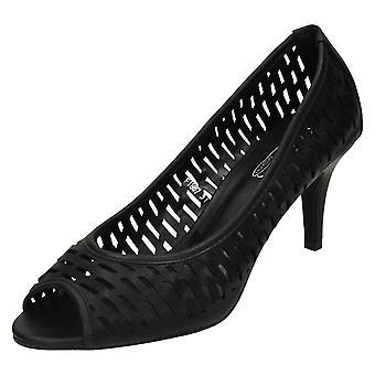 Fläck på damer högklackade PeepToe domstolen sko F1887