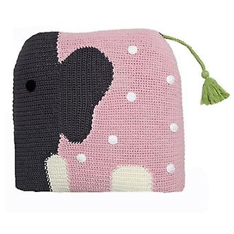 Franck & Fischer Wilfred pink / gray elephant cushion