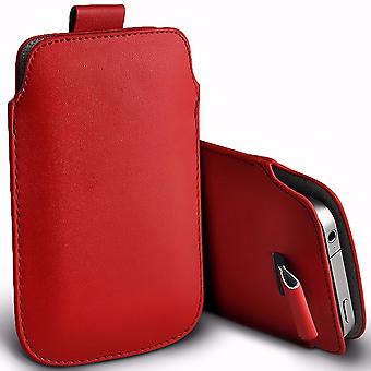 i-Tronixs Premium Stylish Faux Leather Pull Tab Pouch Skin Case Cover For Vodafone Smart Grand (5