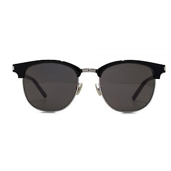 Saint Laurent SL 108 Clubmaster Style Sunglasses In Black