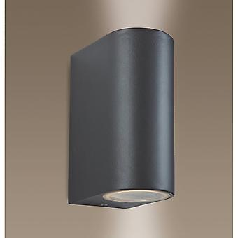 FIRSTLIGHT moderne Gun Metal bis unten Wand Spolight