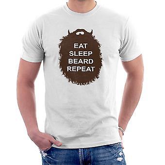 Kolekcja broda jeść snu broda powtarzać Men's T-Shirt