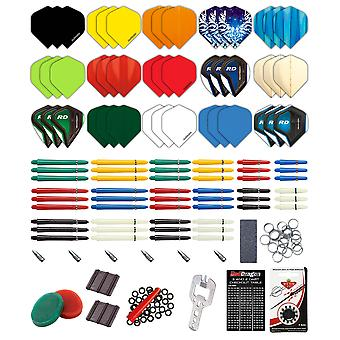 Red Dragon Darts 200 Piece Darts Custom Fit Pack & Red Dragon Checkout Card