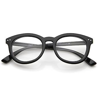 Gafas de marco Casual Retro clásico cuerno las lente Oval clara 47mm