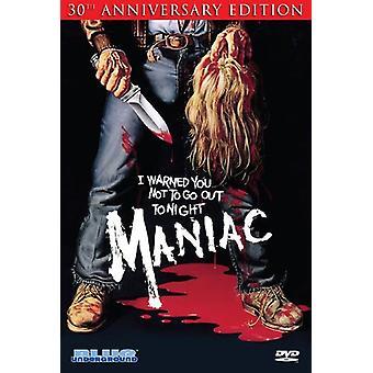 Maniac [DVD] USA importerer