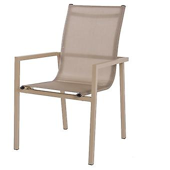 Ldk Stacking Chair Carla Aluminum Champagne 65X57X96 Cm