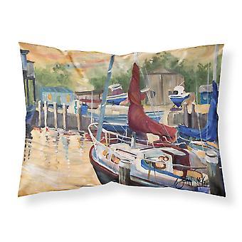 New Sunset Bay Sailboat Fabric Standard Pillowcase