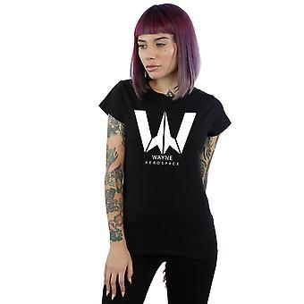 DC Comics Women's Justice League Movie Wayne Aerospace T-Shirt