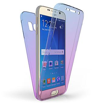Samsung Galaxy S6 Full Body Gel Case - Blue / Purple