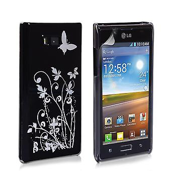Yousave Accessories LG Optimus L7 Butterfly IMD Hard Case - Black