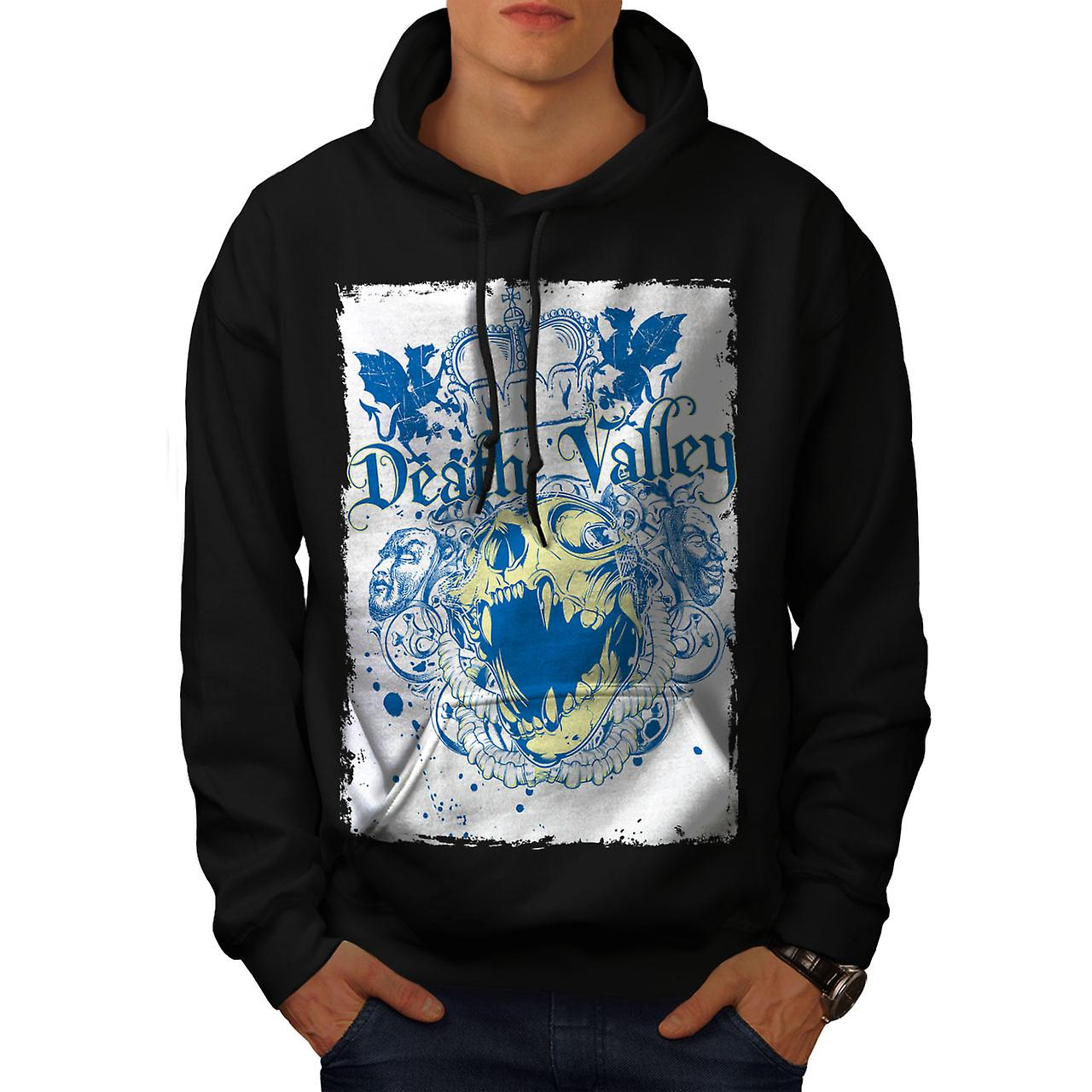 Death Valley King Skull Men Black Hoodie | Wellcoda