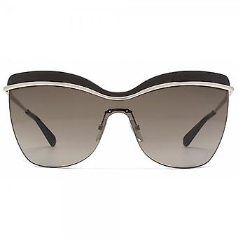 Marc Jacobs Emaille Brow Visor-Sonnenbrille in Gold Braun