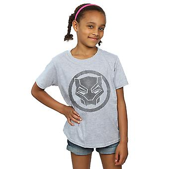 Marvel Girls Black Panther Distressed Icon T-Shirt