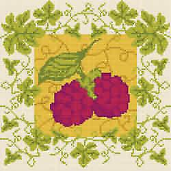 Raspberry Ivy Needlepoint Kit