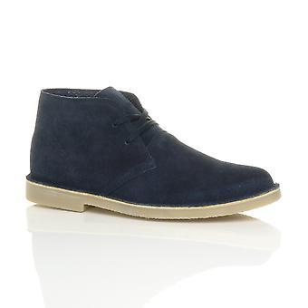 Mens Ajvani atar chukka de clássico de couro camurça deserto tornozelo botas sapatos