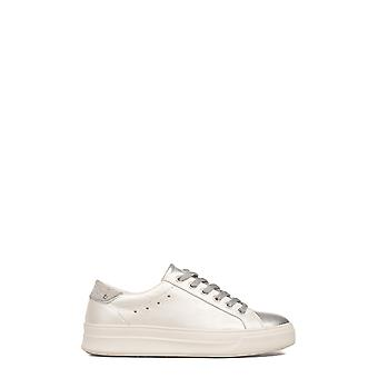 Crime London women's 25603KS110 silver/white leather of sneakers