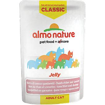 Almo nature Cat Classic Jelly Filete de Atun y Gambas (Cats , Cat Food , Wet Food)
