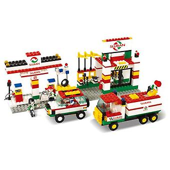 Sluban Town Double Gas Station (Babies and Children , Toys , Constructions , Buildings)