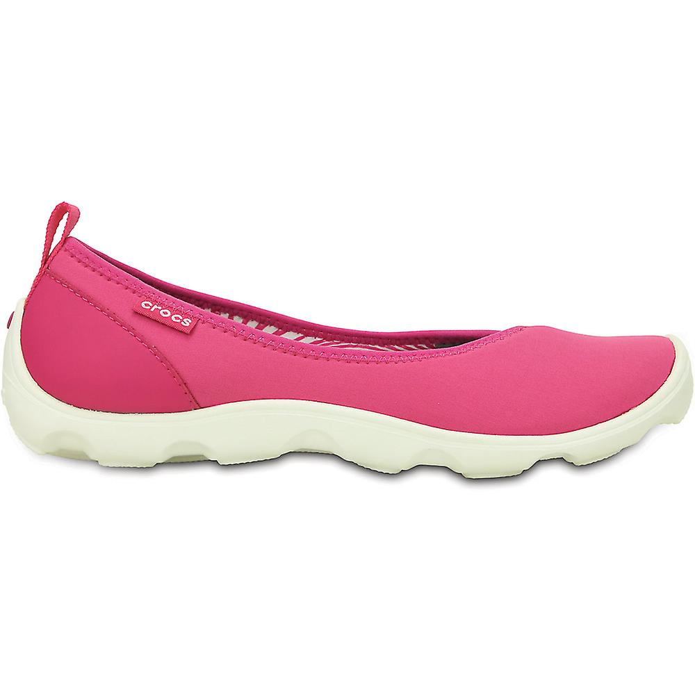 Crocs Ladies Duet Busy Day Flat Slip On Croslite chaussures rose