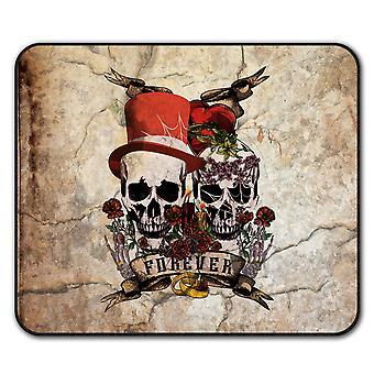 Love Forever Metal Skull  Non-Slip Mouse Mat Pad 24cm x 20cm | Wellcoda