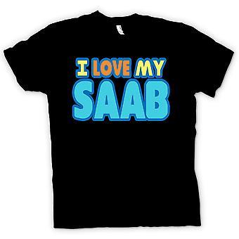 T-shirt des hommes - I Love My Saab - passionné de voiture