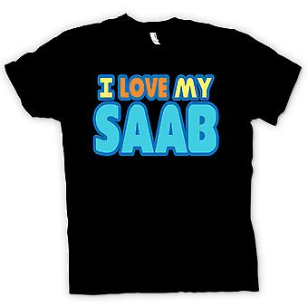 Mens T-shirt - I Love My Saab - Car Enthusiast