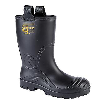 Grafters Mens PVC Waterproof Industrial Safety Rigger Boot