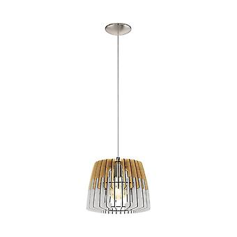 Eglo soffitto ciondolo singolo Dia luce: natura 300 bianco opaco nichel Artana