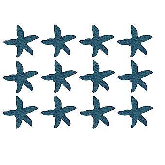 Blau aus Gusseisen Seestern Schublade ziehen Set mit 12 Stück