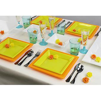 Party tableware set for 8 guests 66-teilig party package summer design party package