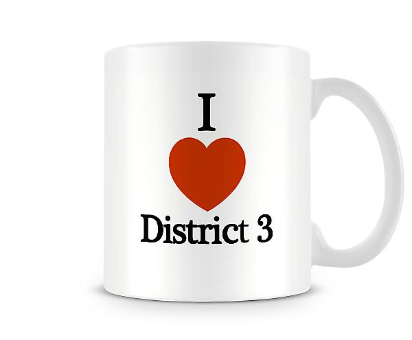 I Love District3 Printed Mug