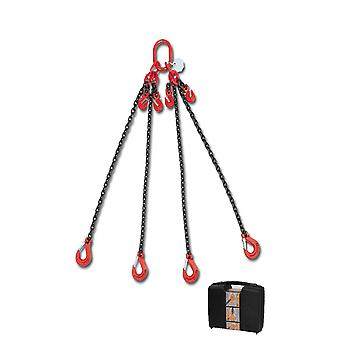 8098/2 C10A Beta Chain Sling 4 Legs And Grab Hook In Plastic Case 10mm 2 Mt