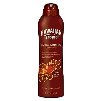 Hawaiian Tropic Royal Tanning Clear Spray, Triple Rich Blend, 6 Oz
