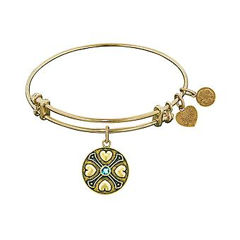Finish Brass December Birthstone Angelica Bangle Bracelet, 7.25