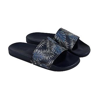 Kenneth Cole Reaction Screen Slides B Mens Blue Slides Slip On Sandals Shoes