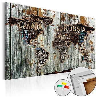 Foto op cork - houten rand [Cork kaart]