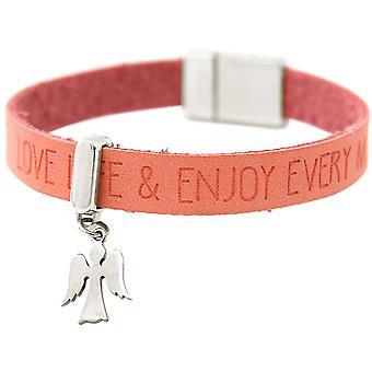 Gemshine Armband Schutz Engel 925 Silber WISHES Rosa Pink Magnetverschluss