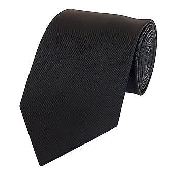 Schlips Krawatte Krawatten Binder 8cm schwarz uni Streifenstruktur Fabio Farini