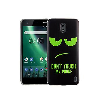 Mobile phone housing for Nokia 2 dont touch my phone green Smartphone cover bumper shell cases