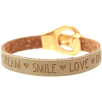 Women - bracelet - WISHES - Brown - sand - belt - buckle - magnetic closure